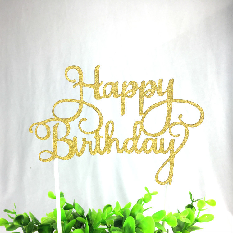 Swell Alles Voor Taarten Cake Topper Happy Birthday Van Dik Papier Met Personalised Birthday Cards Cominlily Jamesorg